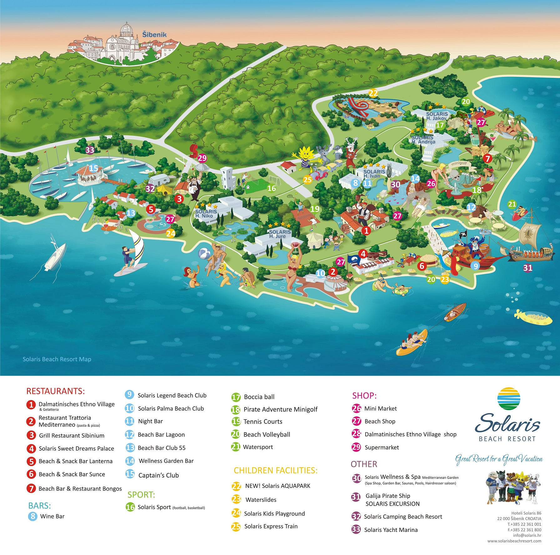 Solaris Resort Map - 2014