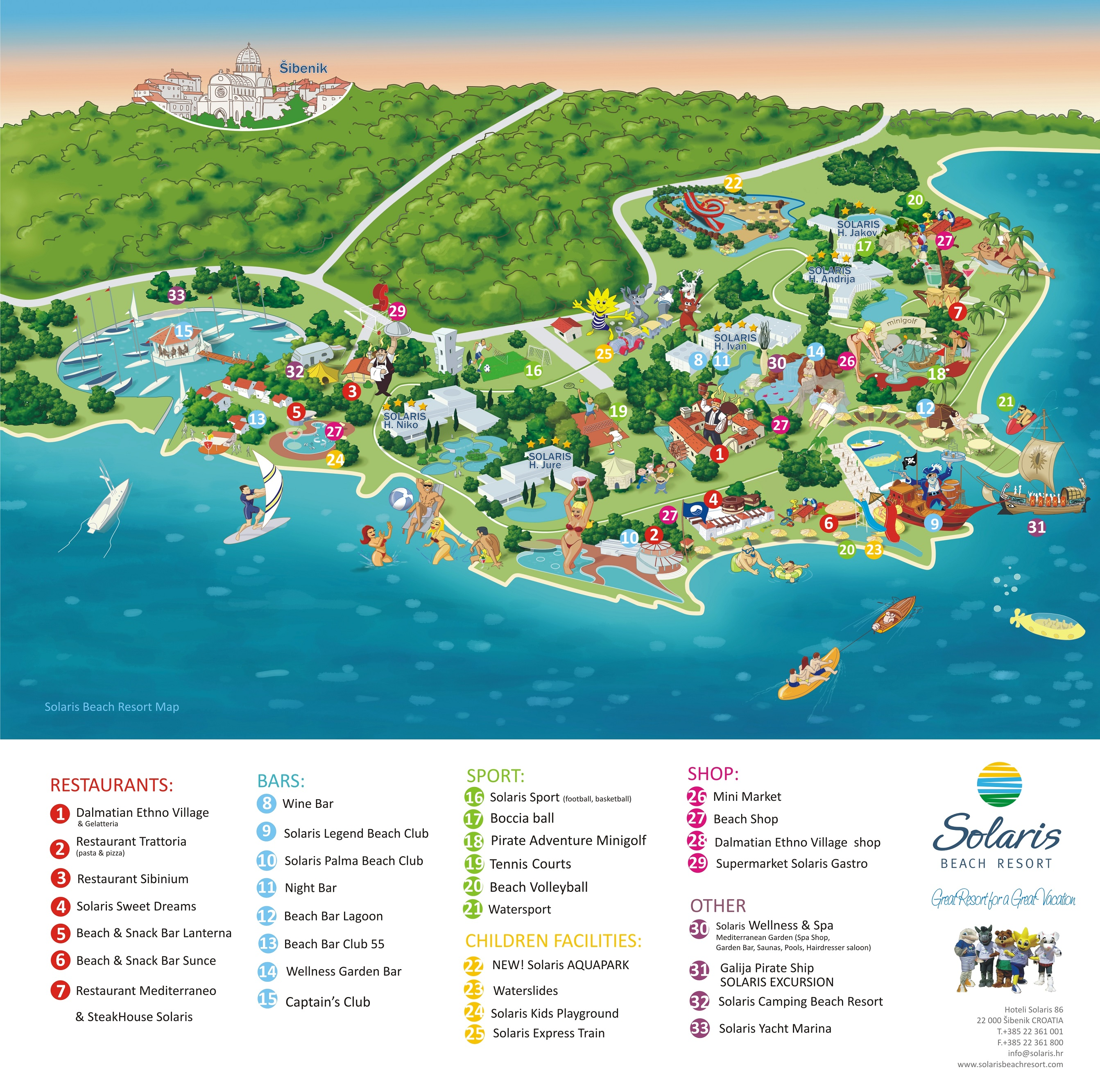 Solaris Resort Map ENG - 2014
